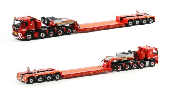 NOOTEBOOMノーテブーム EURO 0+4 PX + VOLVO FM-FMX 10X4/6 トラック /WSI 1/50 建設機械模型 ミニカー