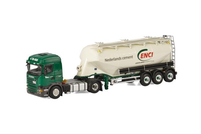 【予約】4-6月以降発売予定Vos Logistics SCANIAスカニア R Streamline Highline bellied powder tanker トラック /WSI 建設機械模型 工事車両 1/50 ミニチュア