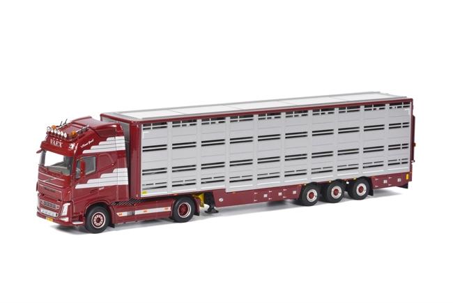 【予約】4-6月以降発売予定Vaex Volvoボルボ FH4 Globetrotter XL Live Stock Trailer 3軸 トラック /WSI 建設機械模型 工事車両 1/50 ミニチュア