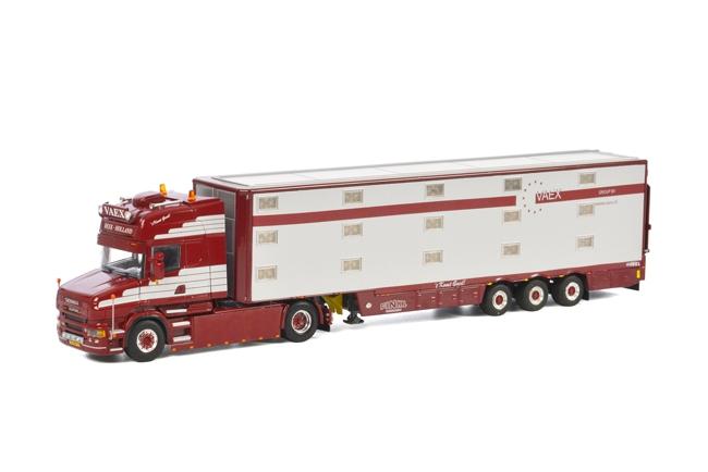 【予約】4-6月以降発売予定Vaex SCANIAスカニア T5 Live Stock Trailer 3軸 トラック /WSI 建設機械模型 工事車両 1/50 ミニチュア