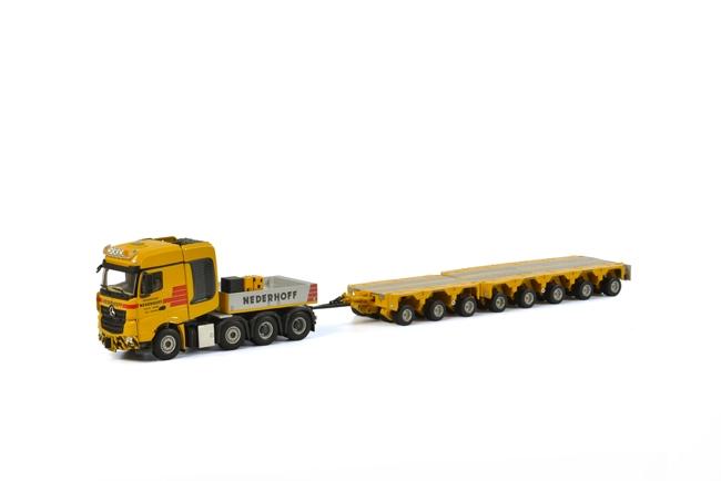 Nederhoff メルセデスベンツアクトロス MP4 Big Space SLT Scheuerle Intercombiトラック 建設機械模型 工事車両 WSI 1/50 ミニチュア