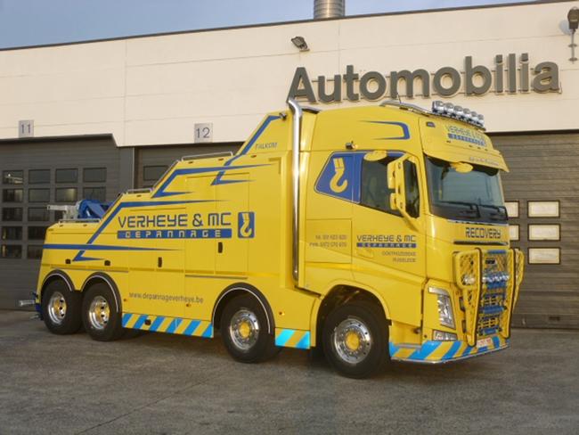 【予約】4-6月以降発売予定Depannage Verheye & MC Volvoボルボ FH4 Globetrotter レッカー車 トラック トラクタヘッド /WSI 建設機械模型 工事車両 1/50 ミニチュア