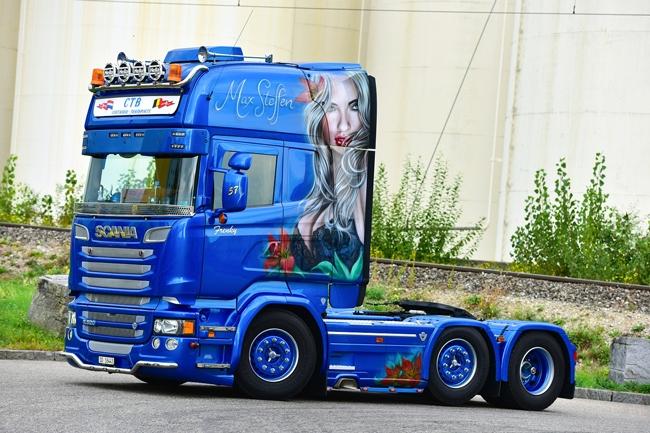 【予約】4-6月以降発売予定Max Steffen SCANIAスカニア R Streamline Topline トラック トラクタヘッド /WSI 建設機械模型 工事車両 1/50 ミニチュア