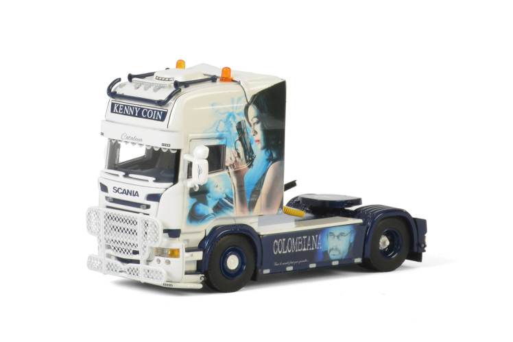 Kenny Coin Transports SCANIA R STREAMLINE TOPLINE 4X2 トラック トラクタ/建設機械模型 工事車両 WSI 1/50 ミニチュア