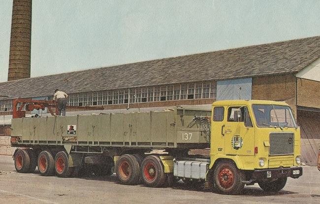 【予約】10-12月以降発売予定Haukes Volvoボルボ F88 Classic Brick Trailerトラック 建設機械模型 工事車両 WSI 1/50 ミニチュア