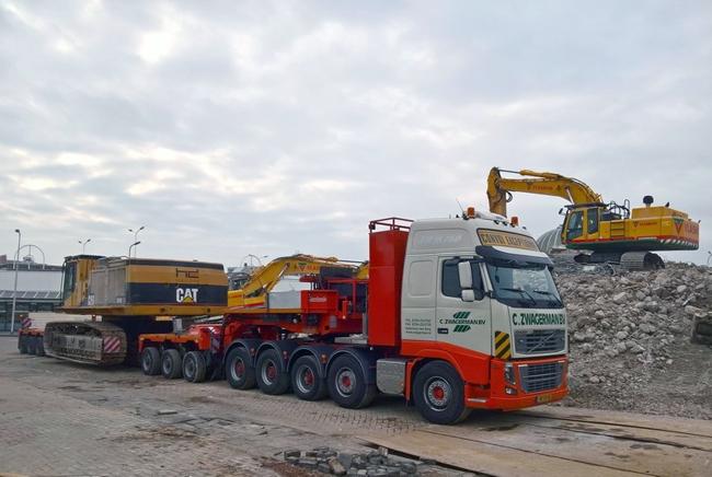 【予約】10-12月以降発売予定C. Zwagerman Volvoボルボ FH3 Globetrotter XL Nooteboomノーテブーム 5軸 EURO-PX + 3軸 ICPトラック 建設機械模型 工事車両 WSI 1/50 ミニチュア