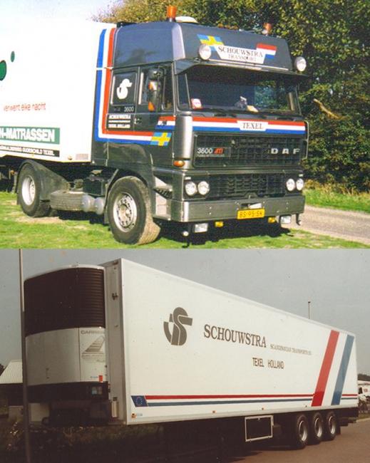 【予約】4-6月以降発売予定Schouwstra DAF 3600 リーファートレーラー Carrier3軸トラック 建設機械模型 工事車両 WSI 1/50 ミニチュア