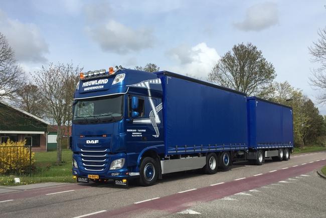 【予約】4-6月以降発売予定Nieuwland DAF XF SSC Combiトラック 建設機械模型 工事車両 WSI 1/50 ミニチュア