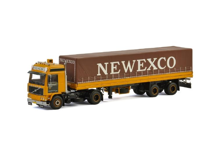 Newexco VOLVO F12 4X2 CLASSIC CURTAINSIDE TRAILER 2軸 トラック/建設機械模型 工事車両 WSI 1/50 ミニチュア