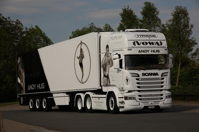 【予約】2018年1-3月以降発売予定Vowa Transporte Scaniaスカニア R Streamline Topline リーファートレーラー Carrier 3軸トラック 建設機械模型 工事車両 WSI 1/50 ミニチュア