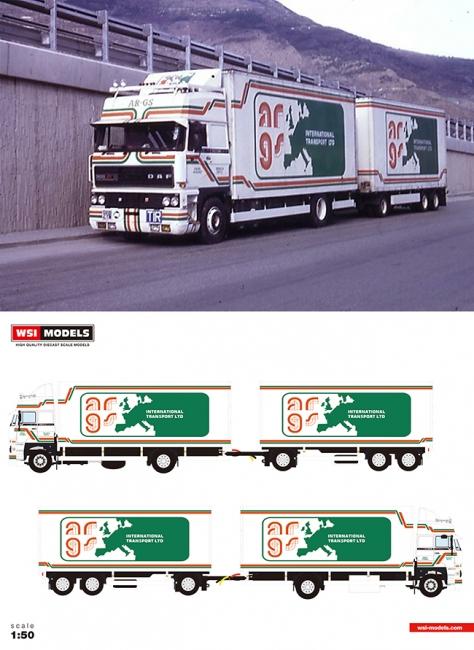 【予約】4-6月以降発売予定ARGS DAF 3300 Space Cab Combiトラック 建設機械模型 工事車両 WSI 1/50 ミニチュア