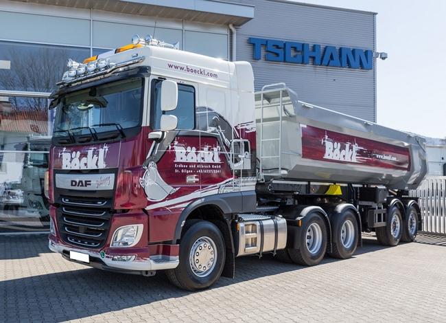 【予約】2018年1-3月以降発売予定Bockl DAF XF SC Halfpipe Tipperダンプ トレーラートラック 建設機械模型 工事車両 WSI 1/50 ミニチュア