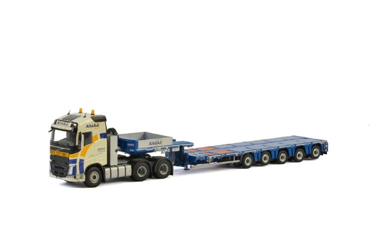 Alt?ad VOLVO FH4 GLOBETROTTER 6x4 Nooteboom MCO PX 5軸 トラック トレーラー/建設機械模型 工事車両 WSI 1/50 ミニチュア