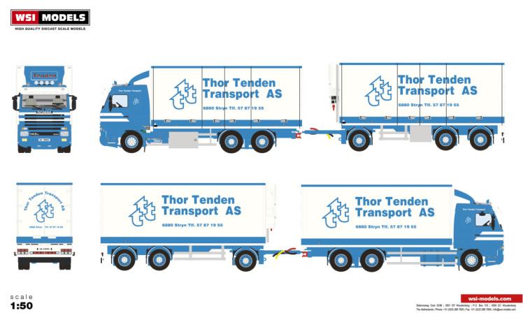 【予約】2019年1-3月以降発売予定Tenden SCANIA 3 SERIES STREAMLINE 6x2 RIGED TRUCK DRAWABAR REFRIGERATEDトラック /建設機械模型 工事車両 WSI 1/50 ミニチュア