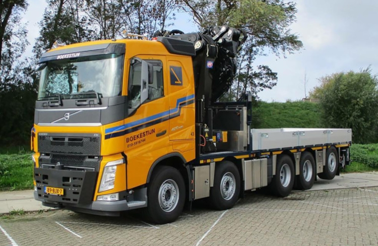 4-6月以降発売予定Boekestijn VOLVO FH4 SLEEPER CAB 10x4 FASSI 1300 + JIB トラック /建設機械模型 工事車両 WSI 1/50 ミニチュア