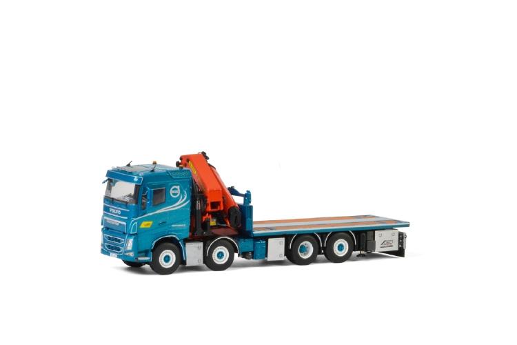 BA Perssons Kranbilar; VOLVO FH4 SLEEPER CAB 8x2 TAG AXLE PALFINGER 7800.2 | JIBトラック /建設機械模型 工事車両 WSI 1/50 ミニチュア