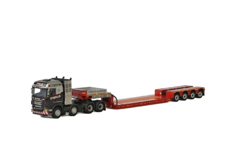 【予約】1-3月以降発売予定O'Neills SCANIA R5 HIGHLINE 8x4 LOWLOADER EURO - 4軸 トラック /建設機械模型 工事車両 WSI 1/50 ミニチュア