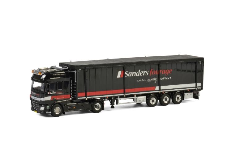 【予約】2019年4-6月以降発売予定Sanders Fourage DAF XF SUPER SPACE CAB 4x2 VOLUME TRAILER / CARGO FLOOR - 3軸 トラック /建設機械模型 工事車両 WSI 1/50 ミニチュア