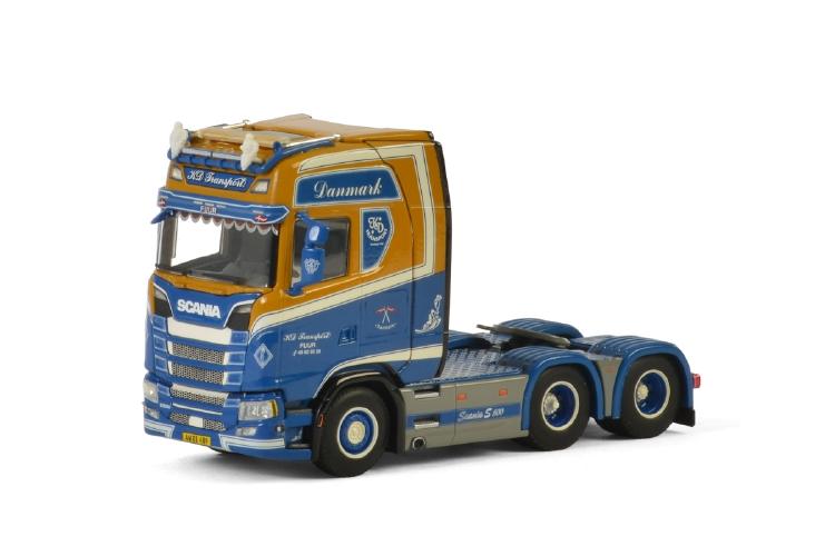 【予約】10-12月以降発売予定KD ミニチュア /建設機械模型 S CS20H HIGHLINE 工事車両WSI SCANIAスカニア Transport 6x2 AXLEトラクタ TAG 1/50