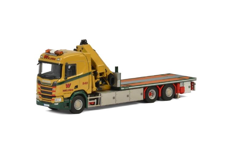 【予約】10-12月以降発売予定Wiklunds Akeri Ab SCANIAスカニア R NORMAL CR20N 6x2 TAG AXLE RIGED TRUCK FLATBED + PALFINGER 7800.2 JIBトラック /建設機械模型 工事車両WSI 1/50 ミニチュア