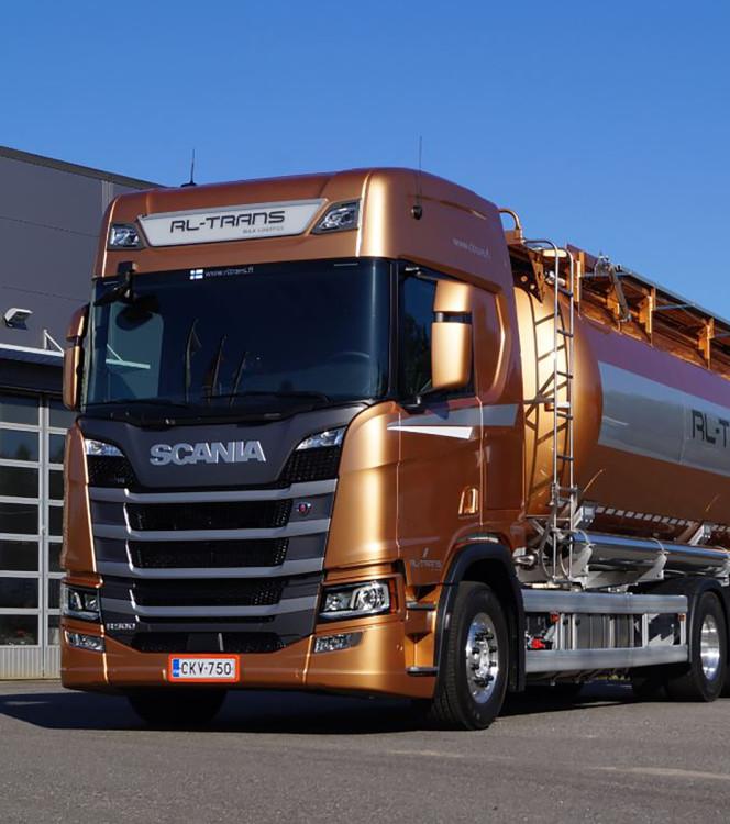 【予約】1-3月以降発売予定RL-Trans SCANIA R HIGHLINE CR20H 6X4 BULK TRAILER - 3軸 トラック /建設機械模型 工事車両 WSI 1/50 ミニチュア