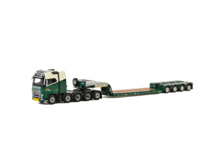 Leenaerts Born; VOLVO FH4 GLOBETROTTER 10x4 低床 - 4軸トレーラー /建設機械模型 工事車両 WSI 1/50 ミニチュア