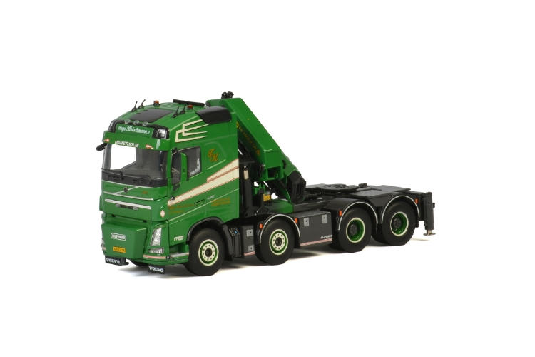 Tage Kristensen VOLVO FH4 GLOBETROTTER 8x4 + PALFINGER 7800.2 トラック トラクタ/建設機械模型 工事車両 WSI 1/50 ミニチュア