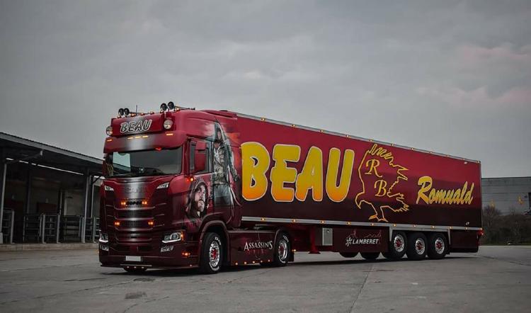 【予約】10-12月以降発売予定Transport Beau SCANIAスカニア S HIGHLINE CS20H 4x2 リーファートレーラー - 3軸トラック /建設機械模型 工事車両WSI 1/50 ミニチュア