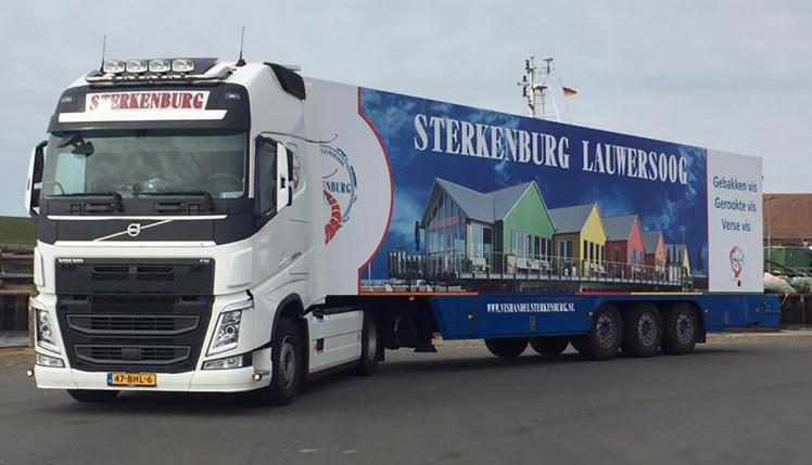 【予約】2019年1-3月以降発売予定Vishandel Sterkenburg VOLVO FH4 GLOBETROTTER XL 4x2 リーファートレーラー - 3軸トラック /建設機械模型 工事車両 WSI 1/50 ミニチュア