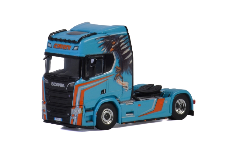 Cirioni SCANIA R HIGHLINE | CR20H 4x2トラクタ /建設機械模型 工事車両 WSI 1/50 ミニチュア