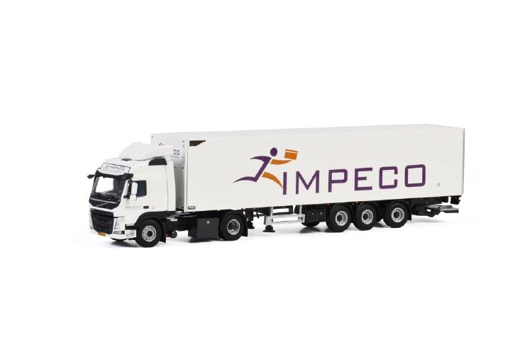 【予約】2019年1-3月以降発売予定Impeco Couriers VOLVO FM4 GLOBETROTTER 4X2 BOX TRAILER - 3軸トラック /建設機械模型 工事車両 WSI 1/50 ミニチュア