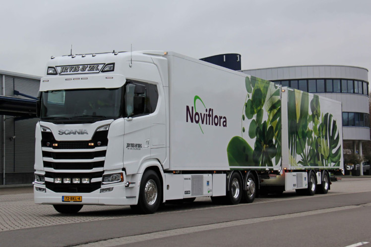 【予約】2019年1-3月以降発売予定Noviflora - J.P. Vis & Zn SCANIA S HIGHLINE 6x2 TAG AXLE RIGED BOX / CURTAIN / REFRIGERATED TRUCK COMBIトラック /建設機械模型 工事車両 WSI 1/50 ミニチュア