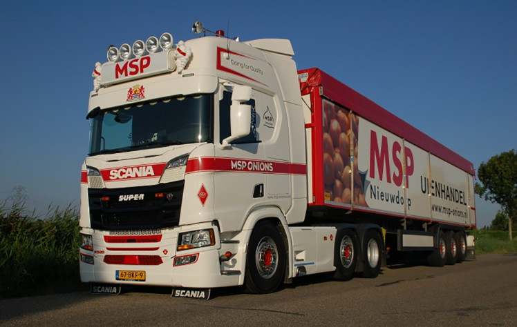 【予約】2019年6-8月以降発売予定MSP Onions SCANIA R HIGHLINE CR20H 6x2 TWIN STEER BANDLOSSER KOLIBRI - 3軸 トラック /建設機械模型 工事車両 WSI 1/50 ミニチュア