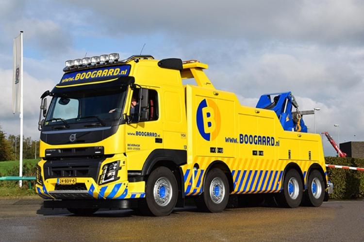 【予約】2019年1-3月以降発売予定Van den Boogaard VOLVO FMX GLOBETROTTER 8X4 WRECKERトラック /建設機械模型 工事車両 WSI 1/50 ミニチュア
