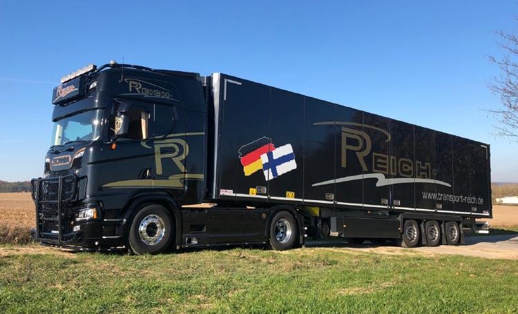 【予約】2019年6-8月以降発売予定Reich Philipp SCANIA S HIGHLINE CS20H 4x2 リーファートレーラー 3軸 トラック トラクタ/建設機械模型 工事車両 WSI 1/50 ミニチュア