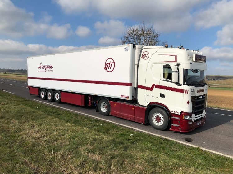 【予約】12月以降発売予定Hacquin Transports SCANIA S HIGHLINE CS20H 4x2 リーファートレーラー 3軸トラック 建設機械模型 工事車両WSI 1/50 ミニチュア
