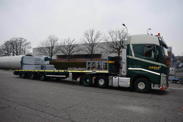 【予約】12月以降発売予定Bolk Transport VOLVO FH4 GLOBETROTTER 6X2 TWIN STEER MEGATRAILER FLAT 3軸 トラック トレーラー 建設機械模型 工事車両WSI 1/50 ミニチュア
