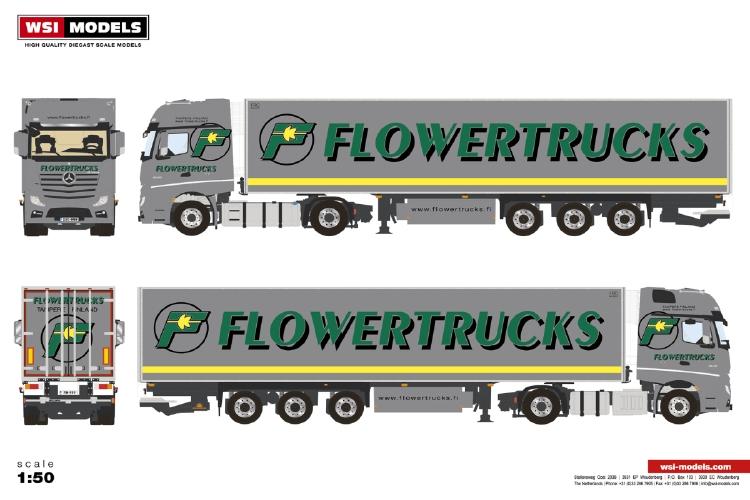 <title>ミニチュア模型ミニカー 予約 2020年1-3月以降発売予定Flowertrucks メルセデス ベンツアクトロス MP4 GIGA SPACE 4X2 リーファートレーラー - 3軸 [再販ご予約限定送料無料] トラック 建設機械模型 工事車両 WSI 1 50 ミニチュア</title>