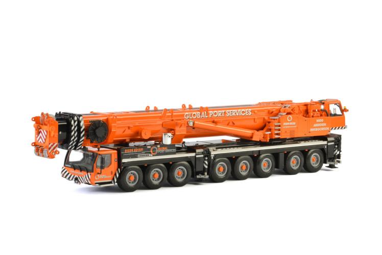 Global Port Services Liebherrリープヘル LTM 1500モバイルクレーン 建設機械模型 工事車両 WSI 1/50 ミニチュア