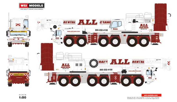 【予約】1-3月以降発売予定All Crane Hire TADANOタダノ ATF400G-6 モバイルクレーン /建設機械模型 工事車両 WSI 1/50 ミニチュア