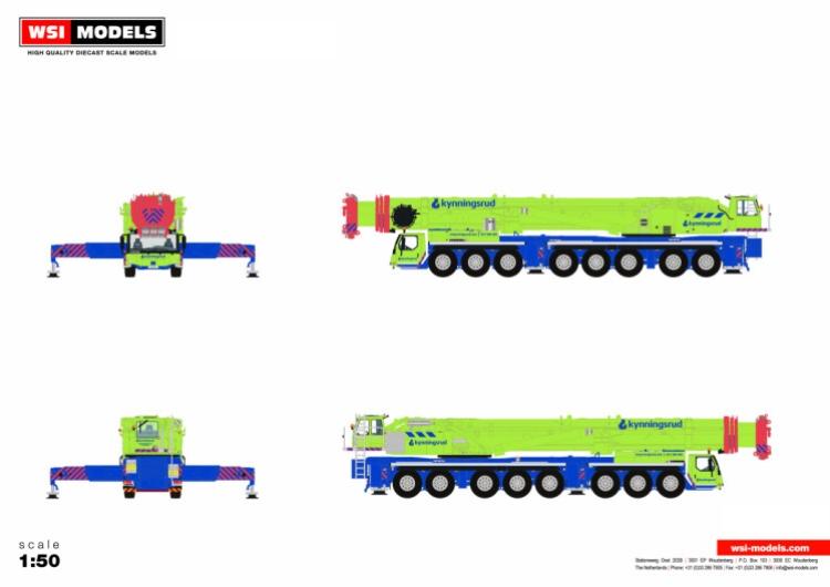 【予約】12月以降発売予定Kynningsrud LIEBHERRリープヘル LTM 1500-8.1モバイルクレーン/WSI 1/50 建設機械 模型ミニカー はたらく車 重機
