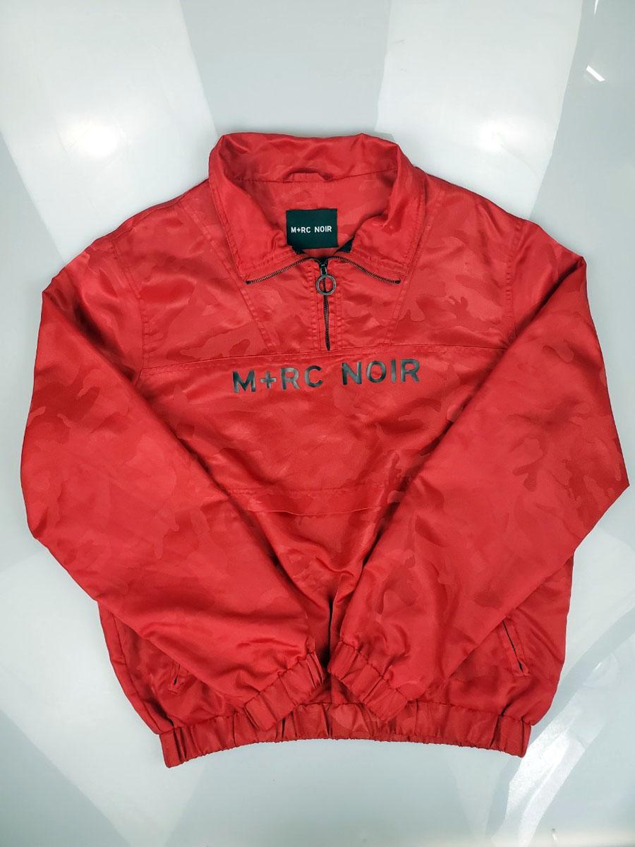 【中古】M+RC Noir (マルシェ・ノア) RED CAMO HMU JACKET サイズL ナイロン アノラックジャケット ジャケット 赤 中古品 05r0315