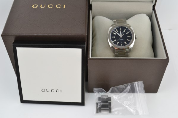 【中古】GUCCI(グッチ) GG2570 メンズ腕時計 YA142301 16811505 箱・取説あり 02r1391 中古品