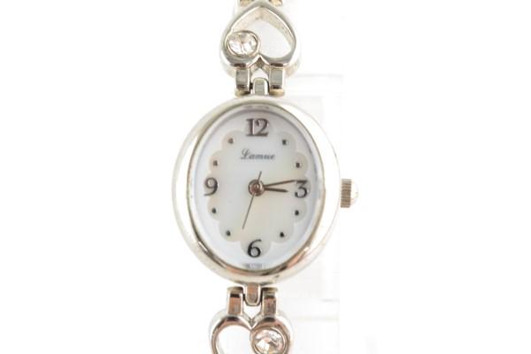 新作 人気 予約販売品 中古 Lamue ラムー レディース腕時計 クォーツ J-AXIS ジェイアクシス 牛久店 シルバー 銀 02r6121 中古品