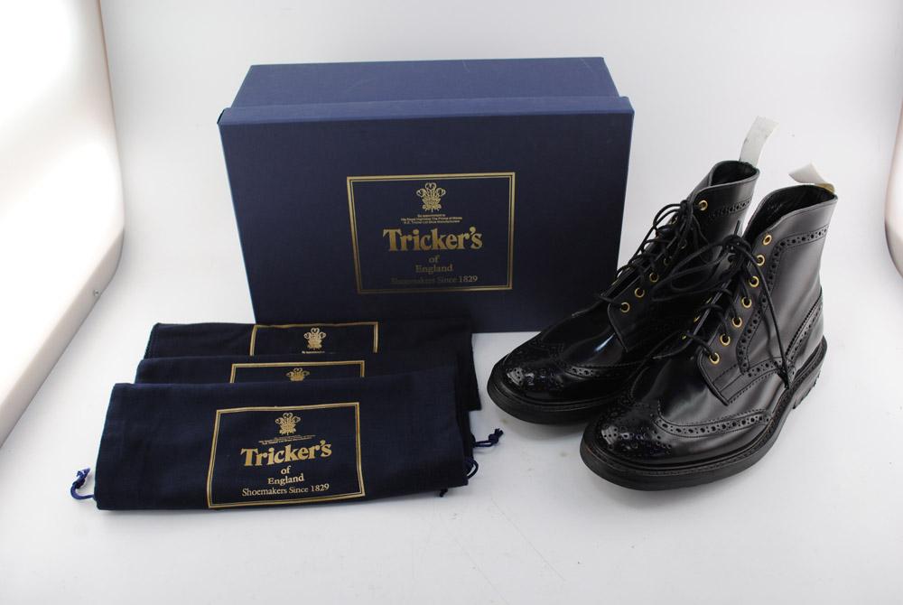 【中古】Tricker's/トリッカーズ MALTON カントリーブーツ M2508 ブラック サイズ8 1/2 04r0116