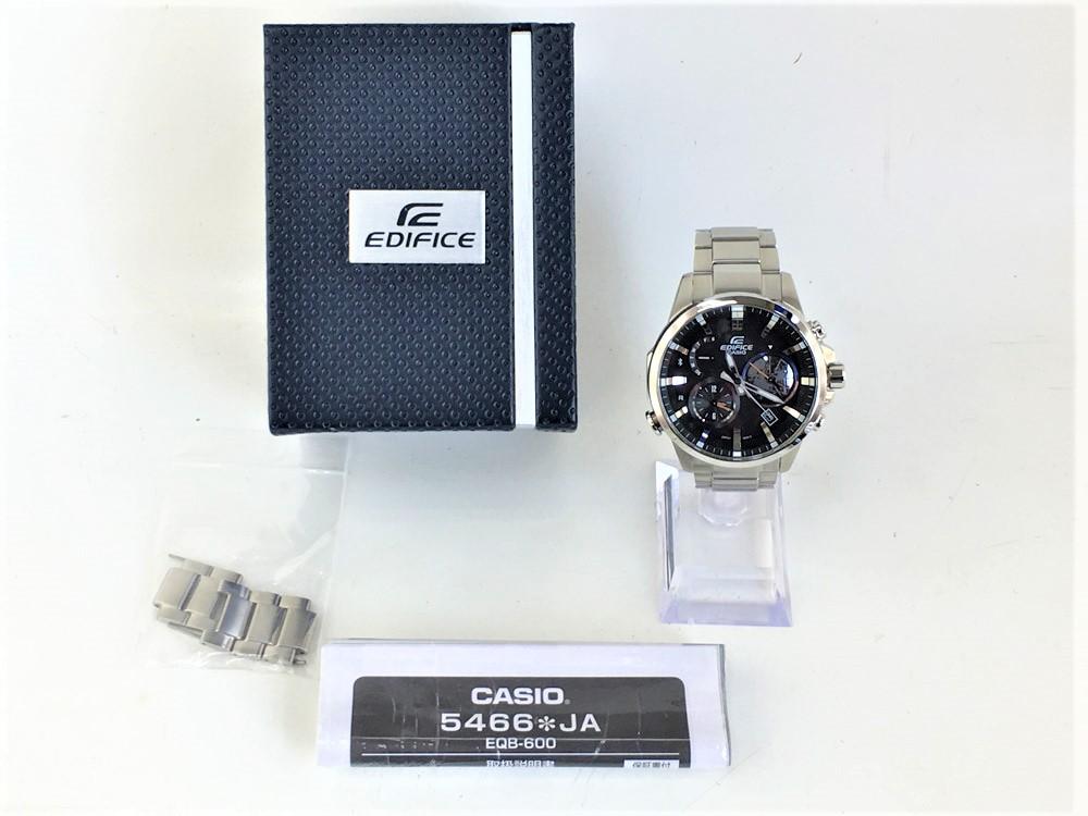 【中古】CASIO カシオ EDIFICE エディフィス Bluetooth EQB-600D-1AJF メンズウォッチ 腕時計 シルバー 04r0226