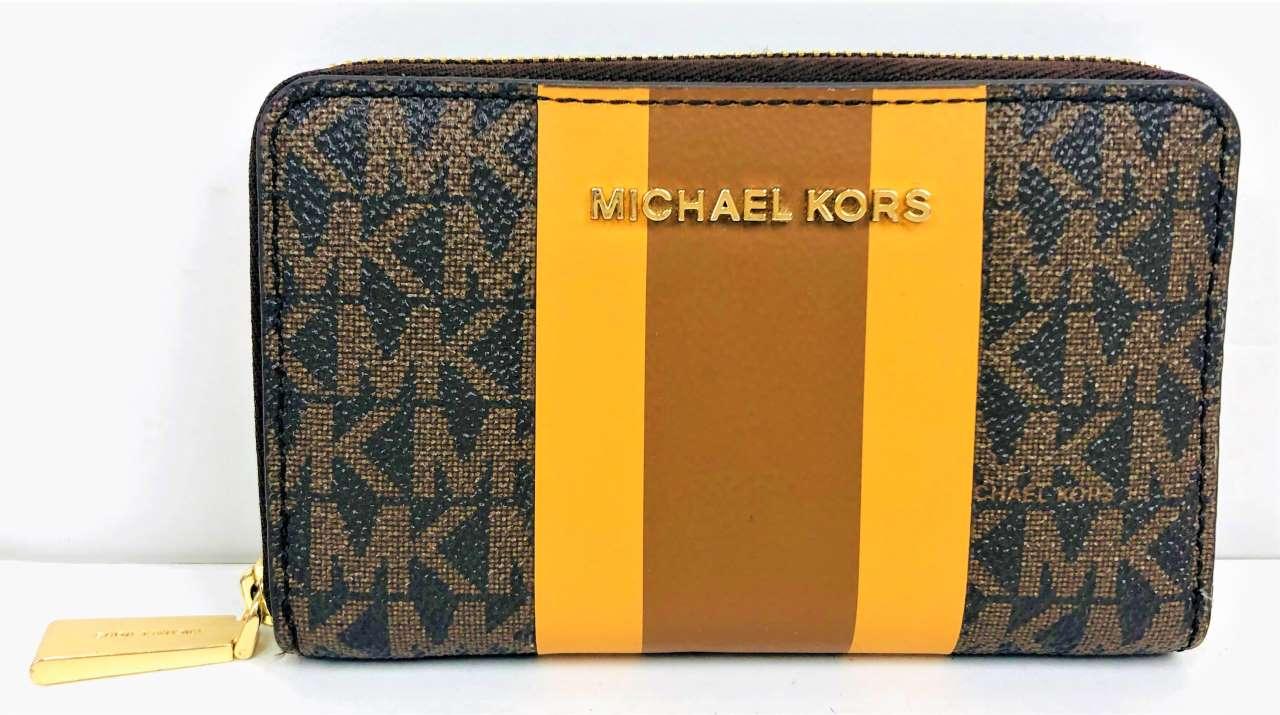 中古 MICHAEL KORS 32T0GJ6D0B マイケルコース 人気 おすすめ コインケース 総柄 カードケース BRW レザー 八王子店 数量は多 04r4468
