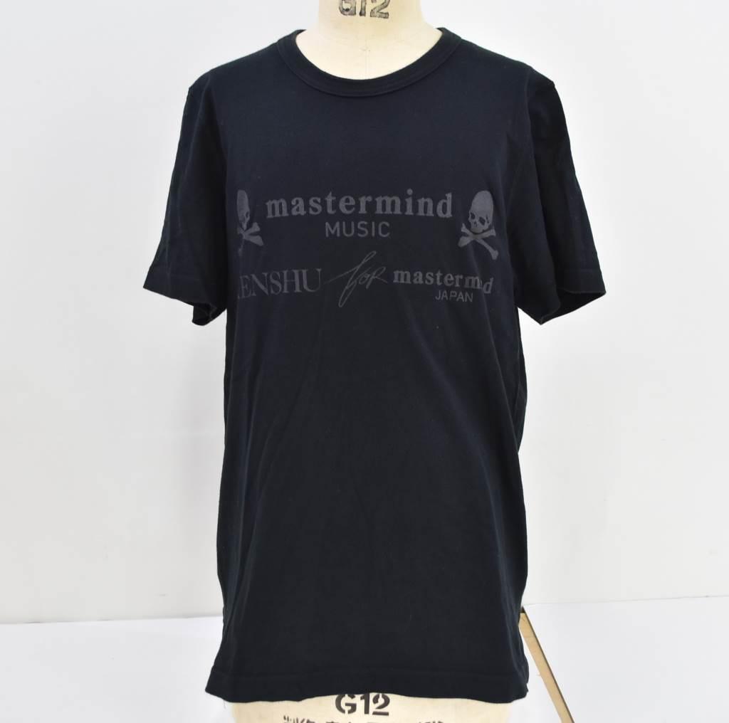 中古 mastermind JAPAN マスターマインドジャパン ×KENSHU クロスボーンスカルクルーネックTシャツ MUSIC Tシャツ MMM-TS03 正規品スーパーSALE×店内全品キャンペーン セール特価 04r3290 S