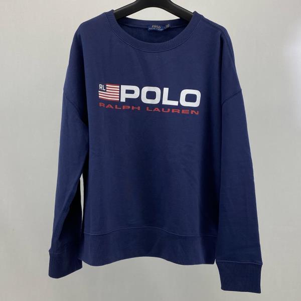 新色 人気の製品 中古 POLO RALPHLAUREN SWEAT SHIRT ポロ ラルフローレン スウェットシャツ 裾割り 04r1825 Lサイズ トレーナー