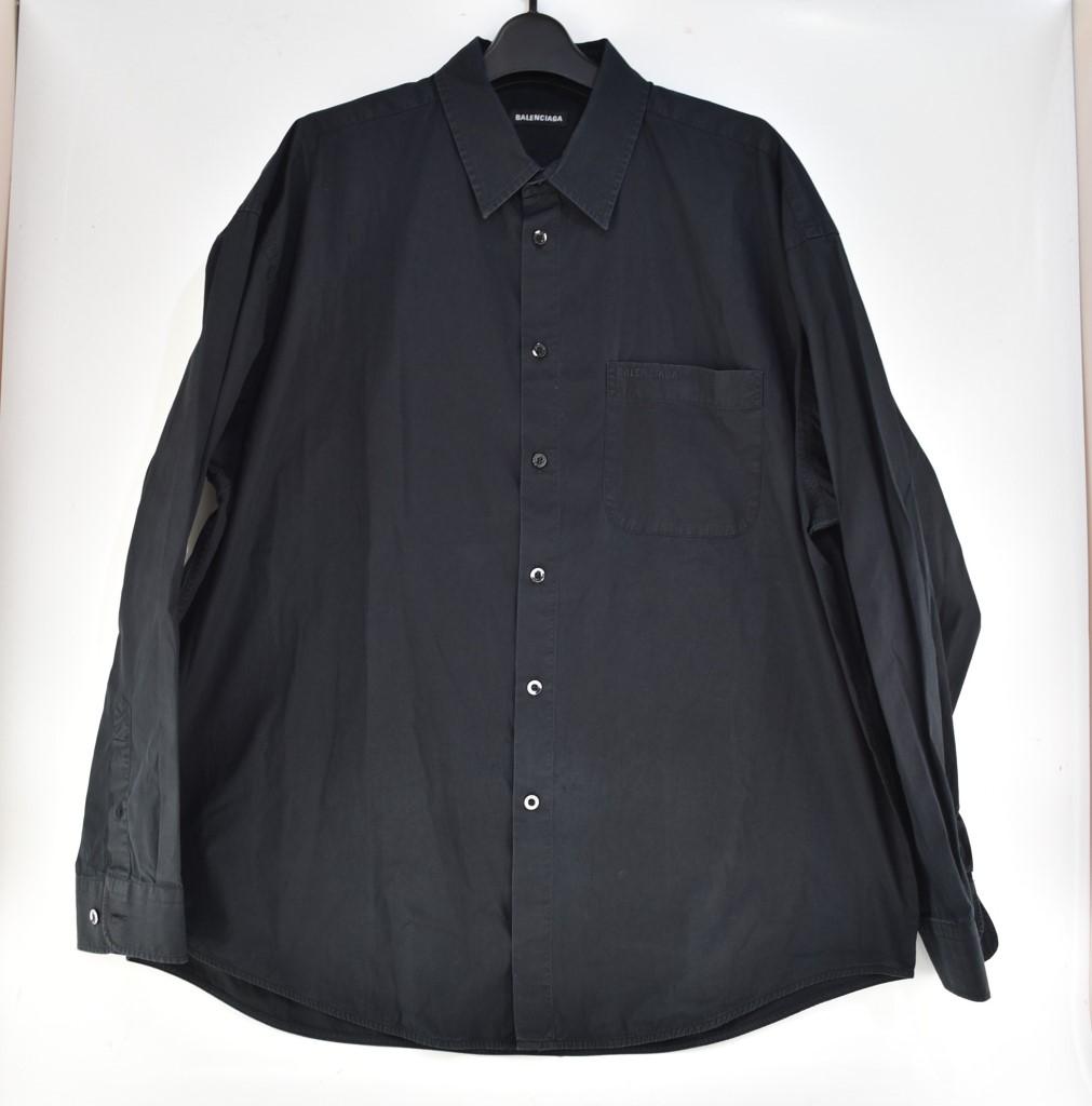 中古 バレンシアガ [正規販売店] BALENCIAGA 長袖シャツ 04r2030 ブラック サイズ:37 市販